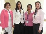 SOBREVIVIENTES DE CANCER, COMPARTEN.  Cynthia de Quezada, Nagora Conde, Rosario Martínez y Alicia de España.