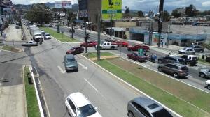 Sector de boulevard Los Próceres y 22 avenida zona 10.  Fotografía: Robin Martínez/CGN