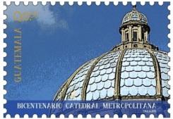 El sello con la imágen de la Cúpula de Catedral tiene un valor de Q0.50 centavos.